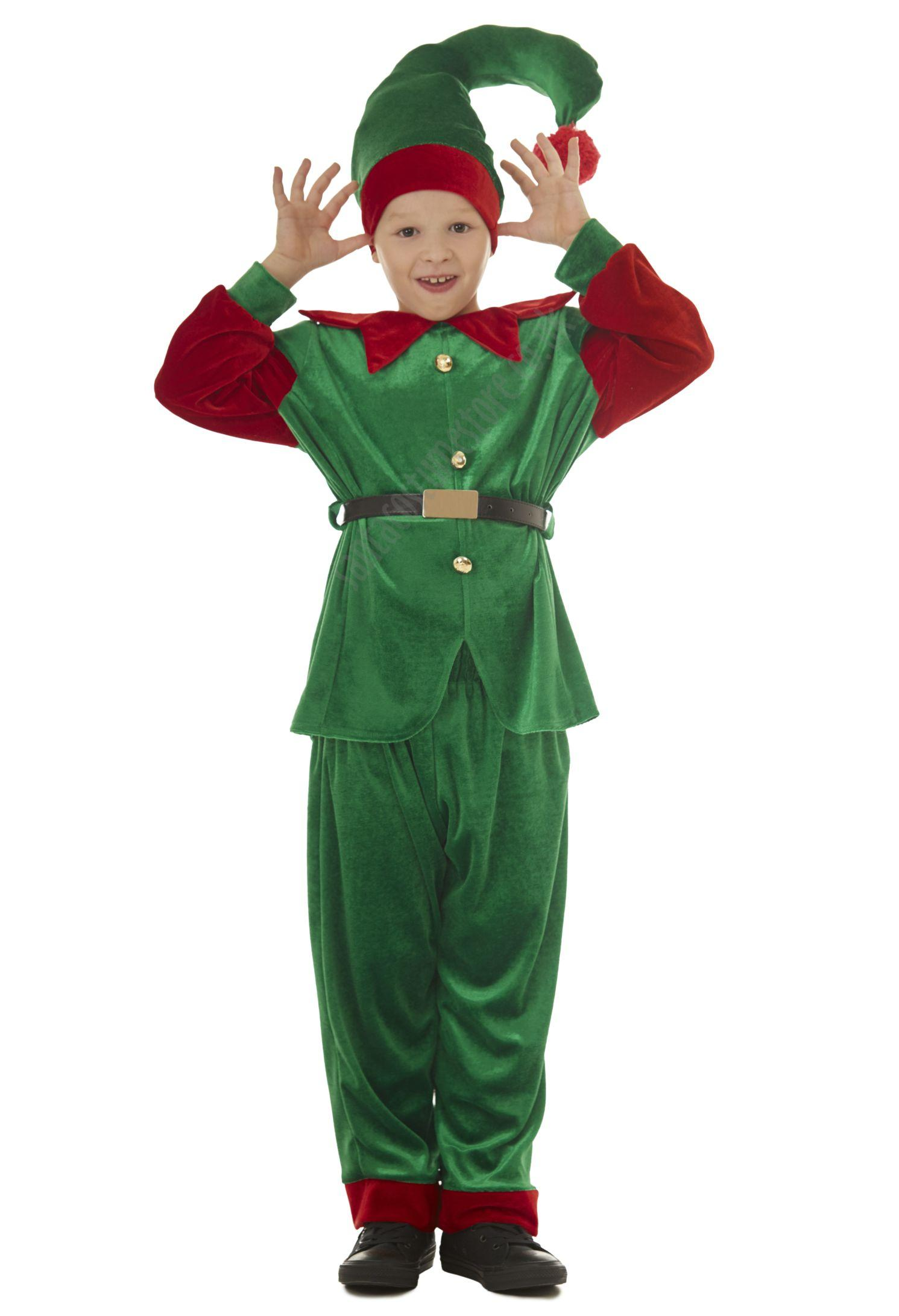 velour elf costume - children green elf suit for boys  sc 1 st  Santa Suits and Costumes & Boyu0027s elf costume - santacostumestore.co.uk