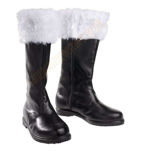 black leather Santa boots (artificial leather)