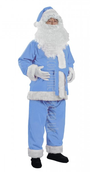 baby blue Santa suit - jacket, trousers and hat
