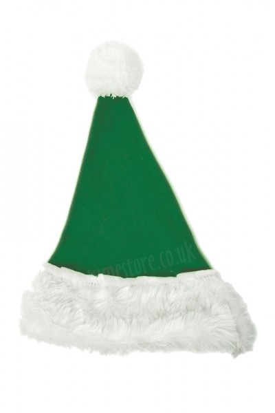 leaf green Santa's hat for children