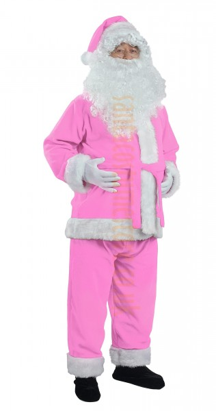 light pink Santa suit made of fleece - jacket, trousers and hat