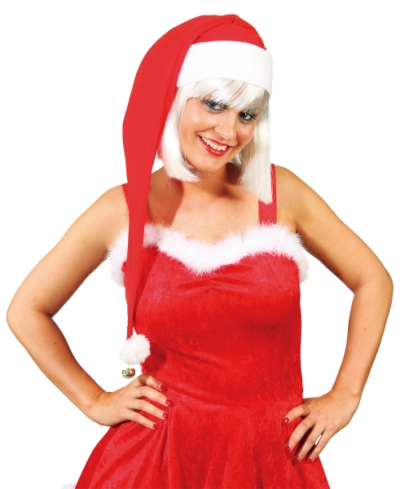 long Santa hat with bell, long felt Santa hat