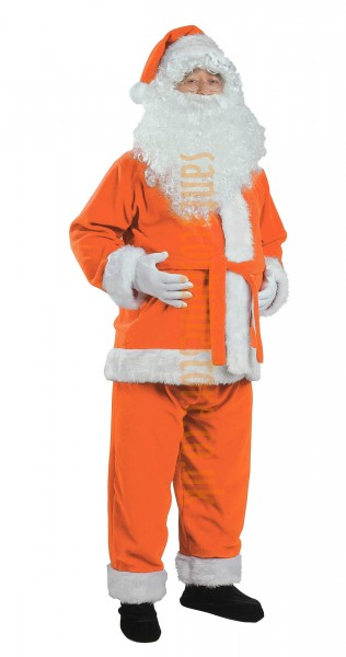 Orange Santa suit - jacket, trousers and hat