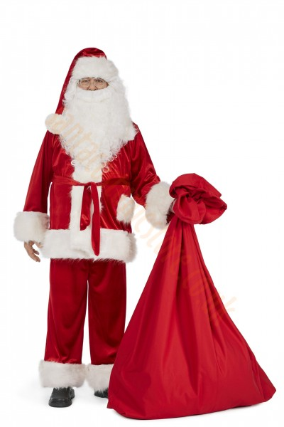 Super deluxe velour Santa suit set (9 parts)