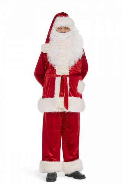 Super deluxe velour Santa suit set (6 parts)