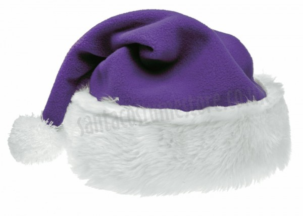purple Santa's hat