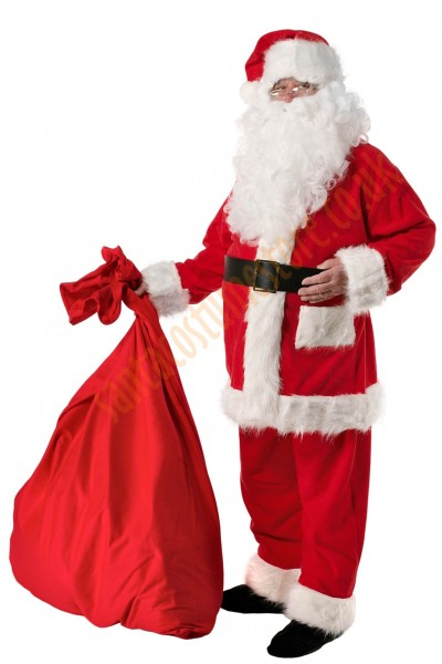 Santa suit with long fur - belt/boot covers
