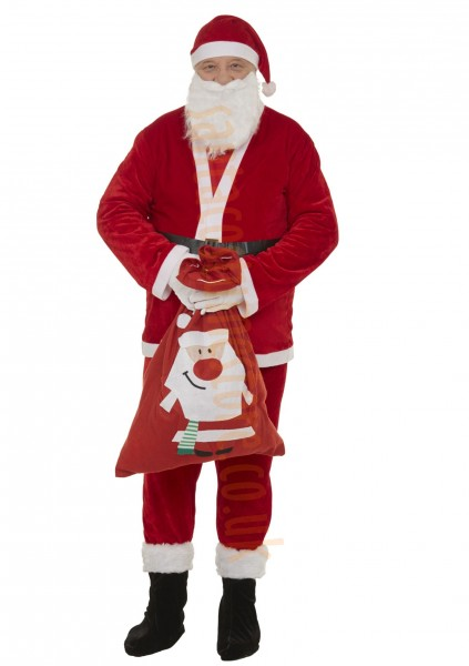 thin plush Santa suit set - boot covers