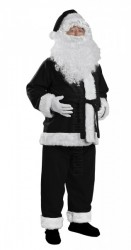 black Santa suit - jacket, trousers and hat