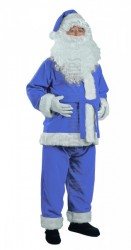 blue Santa suit - jacket, trousers and hat