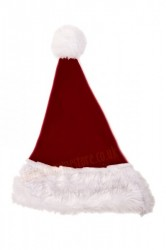 Burgundy Santa's hat for children