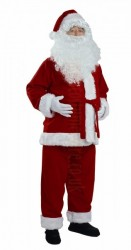 burgundy Santa suit - jacket, trousers and hat