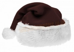 dark brown Santa's hat