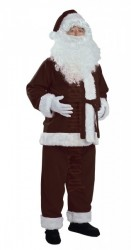 dark brown Santa suit - jacket, trousers and hat