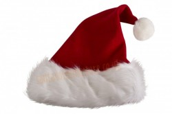 fleece Santa hat - long fur