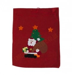 small felt Santa sack, small sack for presents