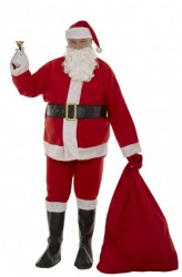 cheap interfacing Santa suit set - bell and artificial belly, felt Santa suit set 11 parts