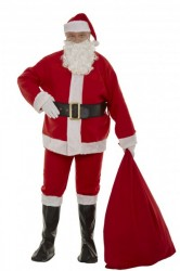 cheap interfacing Santa suit set - sack and glasses, felt Santa suit set