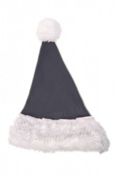 grey Santa's hat for children