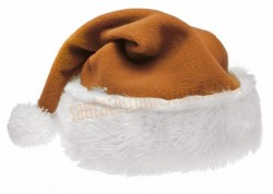 light brown Santa's hat