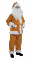 light brown Santa suit - jacket, trousers and hat