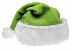 light olive green Santa's hat