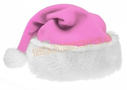 light pink Santa's hat