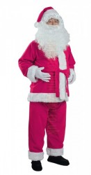 magenta Santa suit - jacket, trousers and hat