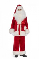 Super deluxe velour Santa suit set (3 parts)
