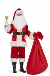 Super deluxe velour Santa suit with jacket - full set (13 parts plus 4 accessories)