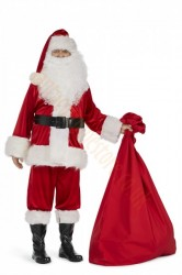 Super deluxe velour Santa suit set (11 parts)