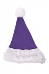 purple Santa's hat for children