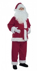 royal purple Santa suit - jacket, trousers and hat