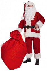 Professional Santa suit with long fur - belt/boot covers