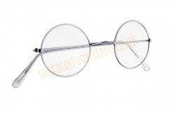 Santa glasses, Glasses in metal frames with neutral lenses