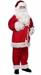 Santa suit with long fur -  jacket, trousers and hat