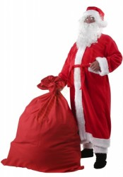 Santa suit with coat -  glasses/sack for presents