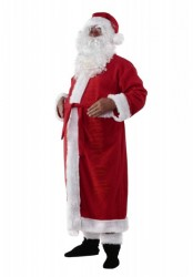 Santa suit with coat - beard/boot covers