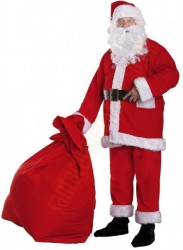 Santa suit made of fleece - boot covers/belt