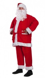 Santa suit made of fleece - beard with wig