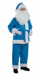 sky blue Santa suit - jacket, trousers and hat