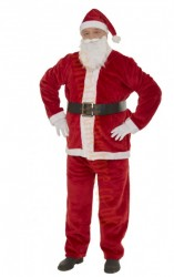 strong plush Santa suit - belt gloves