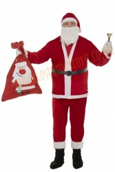 thin plush Santa suit set - bell and glasses