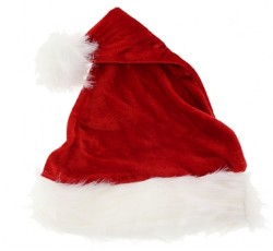 children velour Santa hat, Santa hat for kids