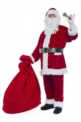 velour Santa suit -  bell/gloves/t-shirt