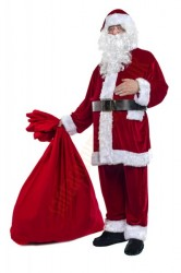 velour Santa suit -  boot covers/belt