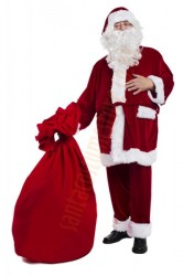 velour Santa suit -  glasses/sack for presents