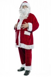 velour Santa suit -  beard with wig