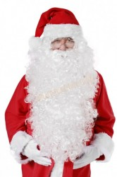 long Santa beard XXL, very long white Santa beard