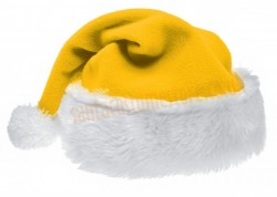 yellow Santa's hat